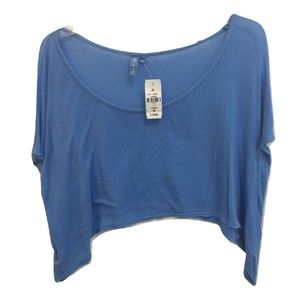 NWT Emma & Sam Oversized Slouchy Cropped Modal Top